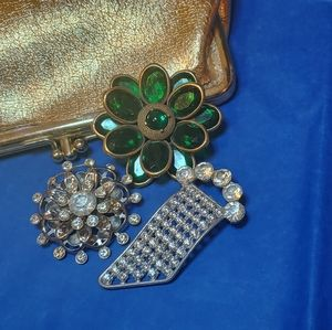 Two Silver Tone Vintage Brooches